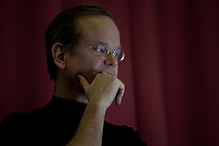 Lawrence Lessig.  Photo by Harry Metcaffe